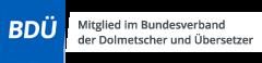Mitglied im Bundesverband der Dolmetscher und Übersetzer