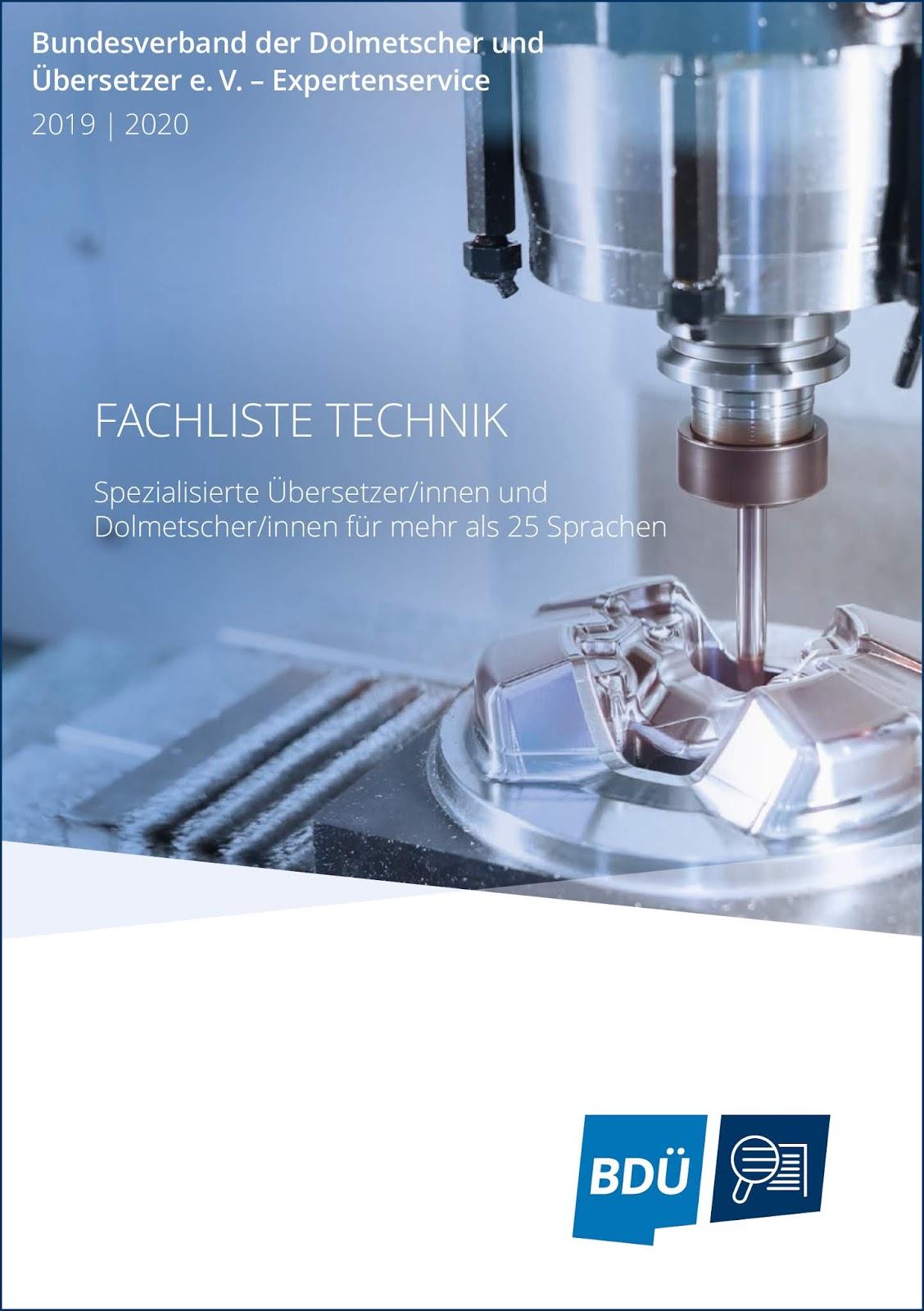 Die neue BDÜ-Fachliste Technik ist da!